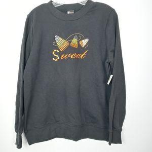 Halloween black sweatshirt suze medium